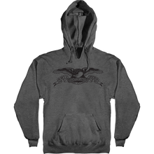 Anti Hero - Basic Eagle Hd/swt M-charcoal Heather/blk - Skateboard Sweatshirt