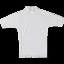Block Surf - Surf Rash Guard / Short Sleeve L-white