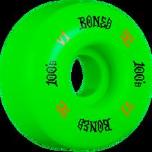 Bones Wheels - 100's Og V1 52mm Green - Skateboard Wheels (Set of Four)