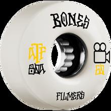 Bones Wheels - Atf Filmers 60mm White - Skateboard Wheels (Set of Four)