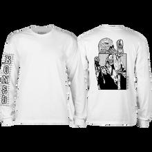 Bones Wheels - Night Shift L/s Xl-white - T-Shirt