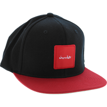 Chocolate - Red Square Patch Hat Adj-black/red