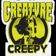 "Creature - X Creepy Mylar Decal 3.75x4"" Blk/grn"