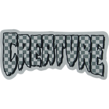 "Creature - Logo Check Foil Decal 2x4.25"""