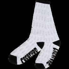 Creature - Holy Crosses Crew Socks White 1pr - Skateboard Socks