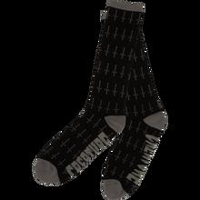 Creature - Holy Crosses Crew Socks Black 1pr - Skateboard Socks
