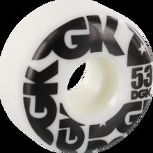 Dgk - Street Formula 53mm Wht/blk - Skateboard Wheels (Set of Four)