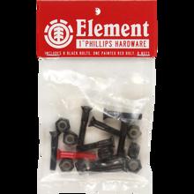 """Element - Hardware Set Phillips 1"""" Blk/red - Skateboard Hardware"""