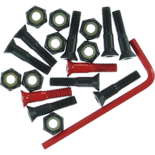 "Element - Hardware Set Allen 7/8"" Blk/red - Skateboard Hardware"