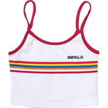 Impala Rollerskates - Stripe Crop Singlet Shirt Xs-wht/red - Womens Shirt