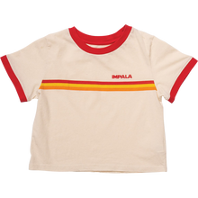 Impala Rollerskates - Ringer Tee Girls Ss M-khaki/red - Womens Shirt