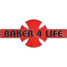 Independent - Baker 4 Life Pin Red/blk
