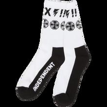 Independent - Ante Crew Socks White 1pr - Skateboard Socks