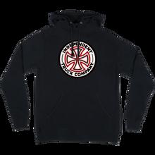 Independent - Red/white Cross Hd/swt S-black - Skateboard Sweatshirt