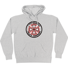 Independent - Red/white Cross Hd/swt S-athletic Heather - Skateboard Sweatshirt