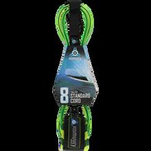 Komunity Project - 8' Standard Leash 7mm Lime W/camo Strap - Surfboard Leash