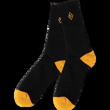 Krooked - Diamond K Socks Blk/gold 1pr - Skateboard Socks