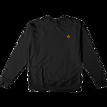 Krooked - Diamond K Crew/swt L-blk/gold - Skateboard Sweatshirt