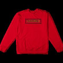 Krooked - Spiked Crew/swt Xl-red/yel/blk - Skateboard Sweatshirt
