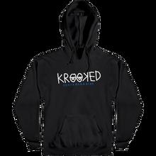 Krooked - Krooked Eyes Hd/swt Xl-blk/wht/navy - Skateboard Sweatshirt