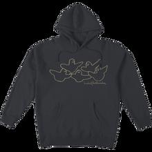 Krooked - Og Birds Hd/swt M-charcoal/cream - Skateboard Sweatshirt