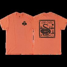 Lowcard - Snake Card Ss S-sunset Orange - T-Shirt