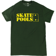 Lowcard - Skate Pools Ss S-forest Green/yel - T-Shirt