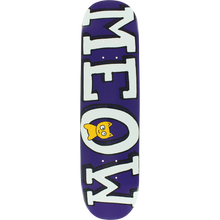Meow - Logo Mini Deck-7.25 Purple - Skateboard Deck