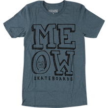 Meow - Stacked Logo Ss Xl-heather Slate - Womens Shirt