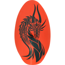 Miscellaneous - Wooden Skimboard Tattoo Dragon Neon Orange