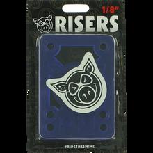 "Pig - Piles 1/8"" Shock Pad Blue Single Set - Skateboard Risers"