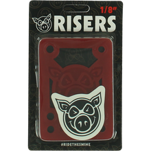 "Pig - Piles 1/8"" Shock Pad Red Single Set - Skateboard Risers"