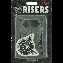 "Pig - Piles 1/8"" Shock Pad Clear Single Set - Skateboard Risers"