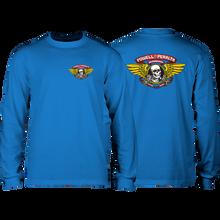 Powell Peralta - Winged Ripper L/s S-royal Blue - T-Shirt