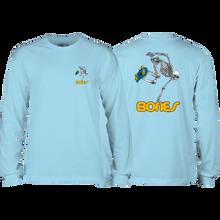 Powell Peralta - Skateboard Skeleton L/s S-powder Blue - T-Shirt