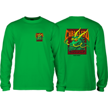 Powell Peralta - Cab Street Dragon L/s S-kelly Green - T-Shirt