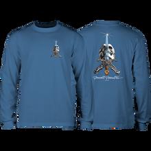 Powell Peralta - Skull & Sword L/s M-slate Blue - T-Shirt