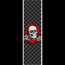 Powell Peralta - Grip Sheet 9x33 Ripper Checker Blk/grey/red - Skateboard Grip Tape