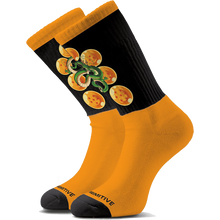 Primitive - Dbz Shenron Crew Socks Black/gold - Skateboard Socks