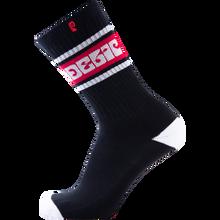 Psockadelic - Basic Retro Crew Socks Black 1pr - Skateboard Socks
