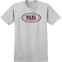 Real - Oval Ss Xl-ath.heather/burgundy - T-Shirt