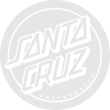 "Santa Cruz - Opus Dot 3"" Decal White"