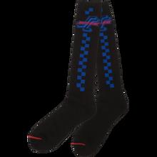 Santa Cruz - Check Ogsc Tall Socks Black 1pr - Skateboard Socks