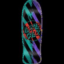 Santa Cruz - Brush Dot Preissue Deck-9.42x31.88 Blk/teal/pur - Skateboard Deck