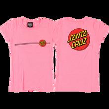 Santa Cruz - Classic Dot Girls Fitted Ss S(6/6x)-pnk Heather - Womens Shirt