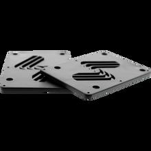 "Silver - Riser Set 1/8"" Black - Skateboard Risers"
