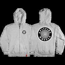 Spitfire - Og Circle Patch Zip Hd/swt S-heather Grey/blk - Skateboard Sweatshirt