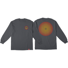 Spitfire - Classic Swirl Fade L/s Xl-charcoal - T-Shirt