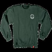 Spitfire - Lil Bighead Emblem Crew/swt S-moss Heather/wht - Skateboard Sweatshirt