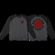 Spitfire - Classic 87 Swirl Crew/swt S-gunmetal/blk - Skateboard Sweatshirt